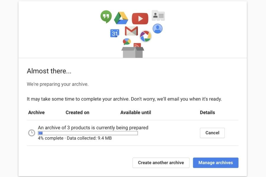 How to download your Google data