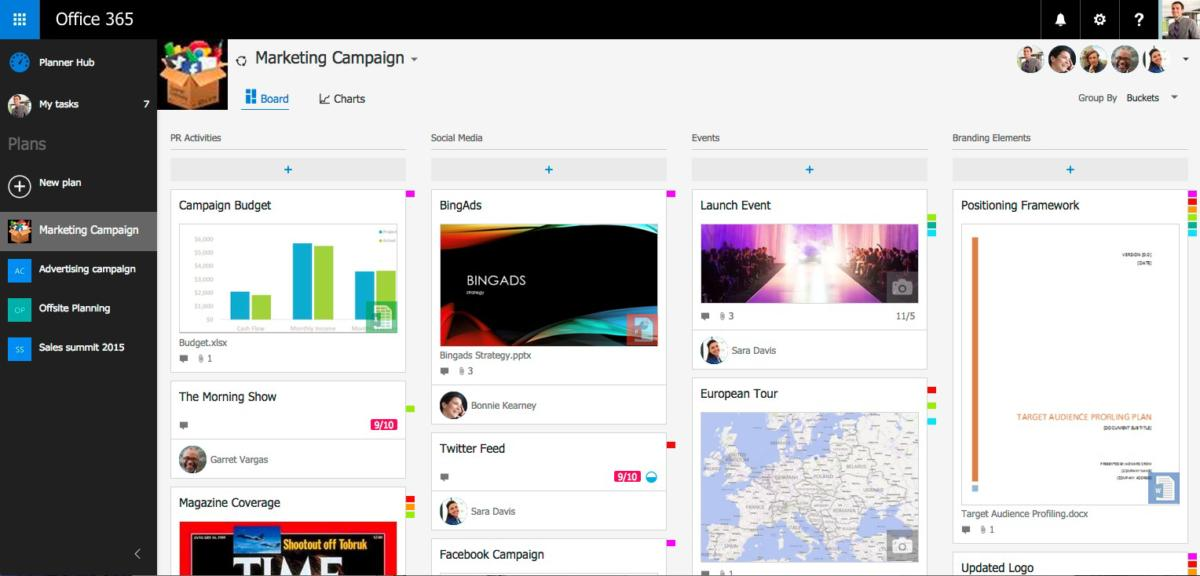 Microsoft Planner A Trello rival benefits from Office 365