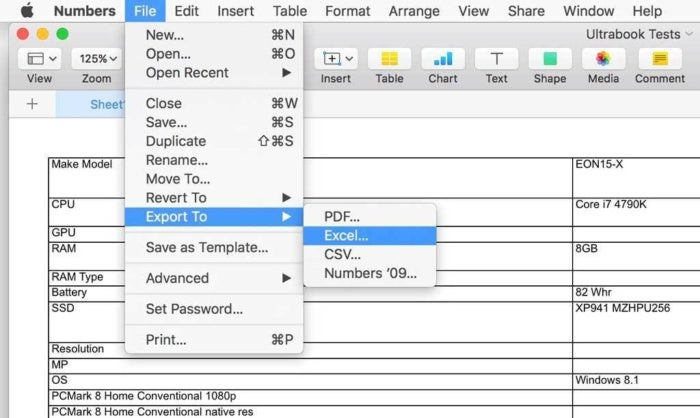 How to open Microsoft Excel spreadsheets in Apple Numbers on a Mac