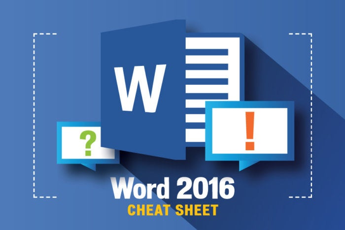 Word 2016 cheat sheet Computerworld - mickrosoft word