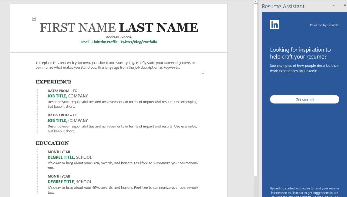 How to use Microsoft Word\u0027s Resume Assistant to look for a new job