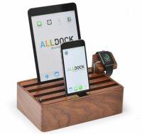 Alldock: Hlzerne Ladestation fr Smartphones, Tablets und