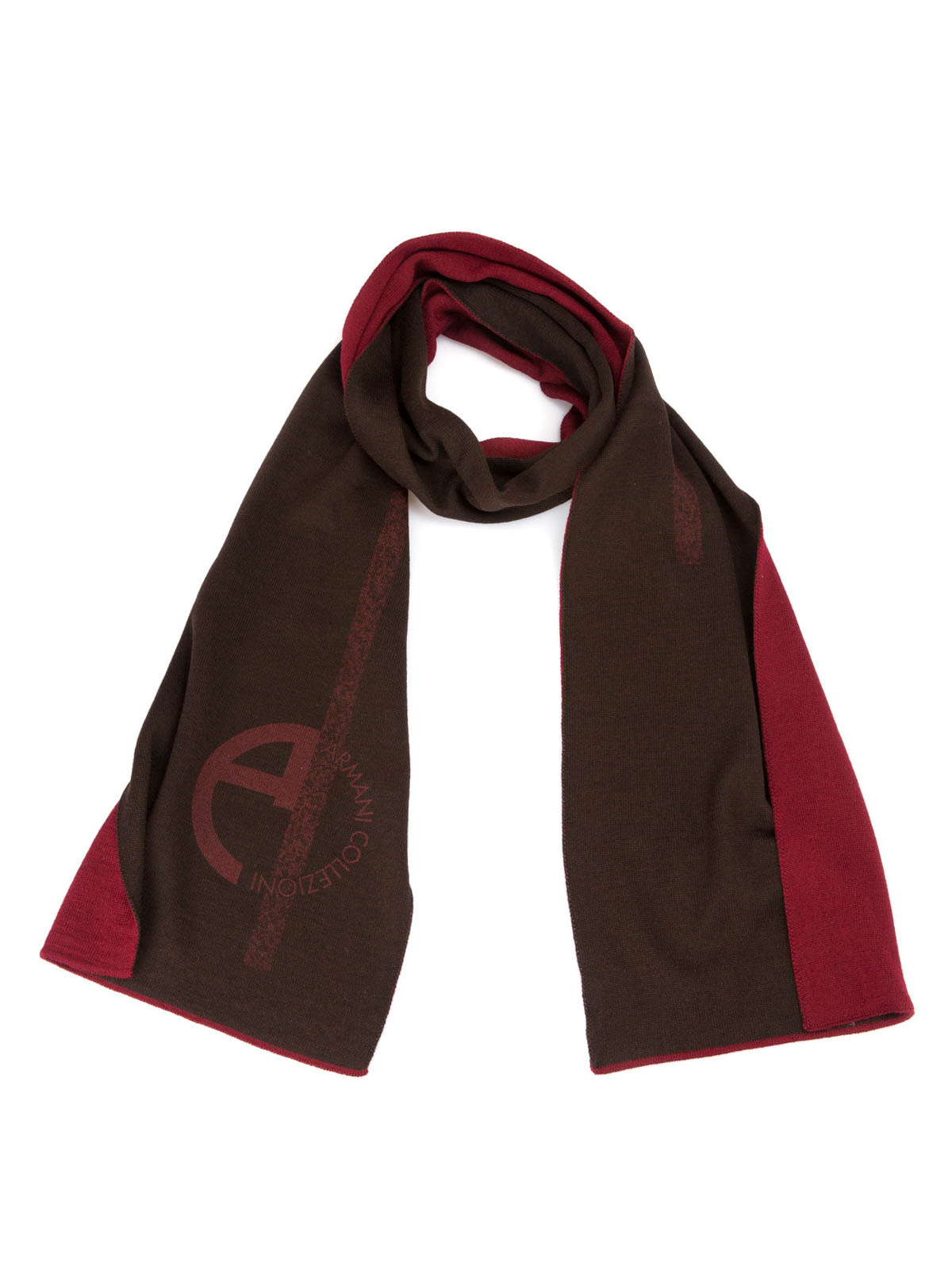 Scarves With Company Logo Logo Print Wool Blend Scarf By Armani Collezioni Scarves