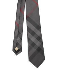 Burberry - Manston Check silk tie - ties & bow ties ...
