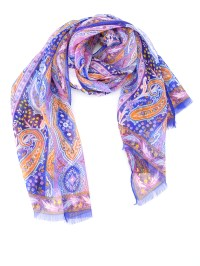 Etro - Paisley pattern silk scarf - scarves - 100075606250 ...