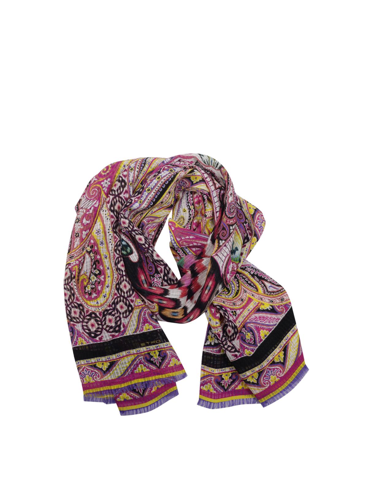 Paisley print silk scarf by Etro