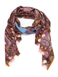 Paisley wool and silk scarf by Etro - scarves | iKRIX