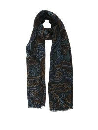 Wool and silk printed scarf by Etro - scarves   iKRIX