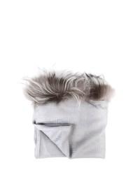 Fox fur trimmed silk wool shawl by Fendi - Stoles & Shawls ...