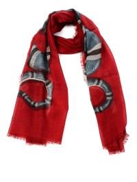 Gucci - Snake print wool scarf - scarves - 4563594G2006562 ...