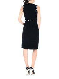 Silk and wool bon ton sheath dress by Gucci - knee length ...