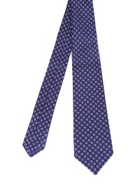 Dot printed silk tie by Kiton