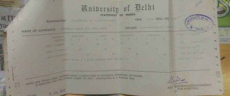 I too have printed marksheet from DU like PM Modi\u0027 The Indian Express