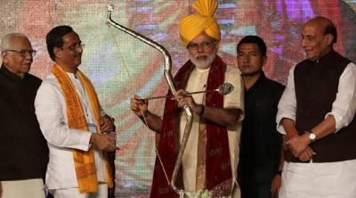 Nothing political in PM Narendra Modi's greeting of 'Jai Shri Ram' on Dussehra: BJP | The Indian ...
