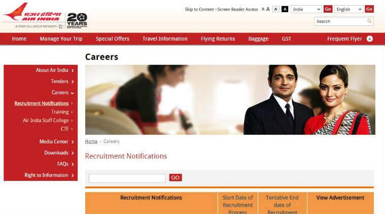 Air India recruitment 2017 Apply for Business Development Manager