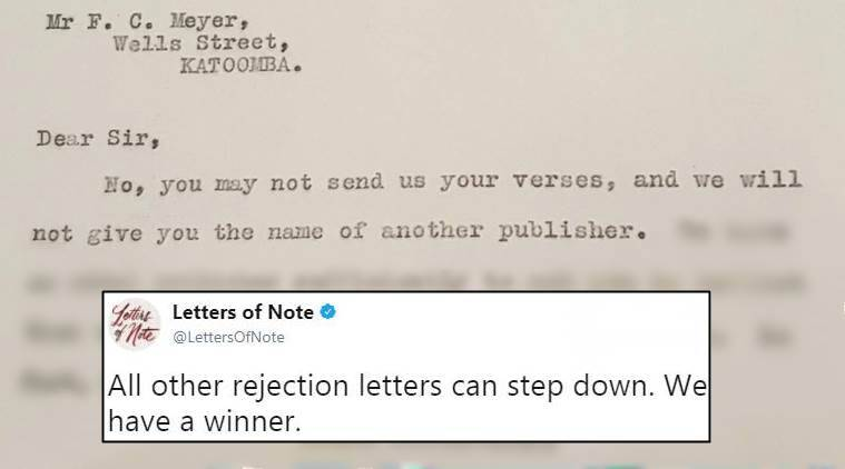 This viral REJECTION LETTER from 1928 is delightfully savage