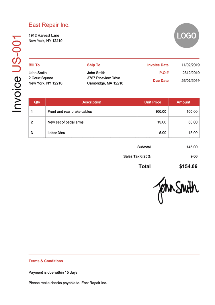 billing invoices templates free