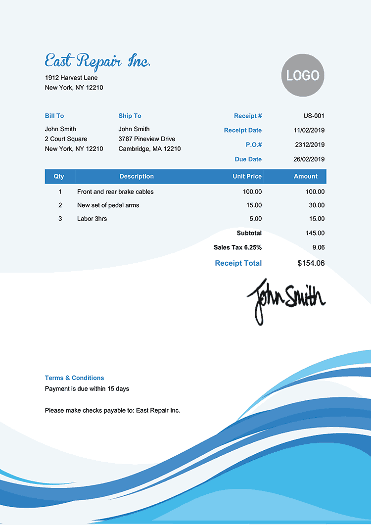 cool invoice template free