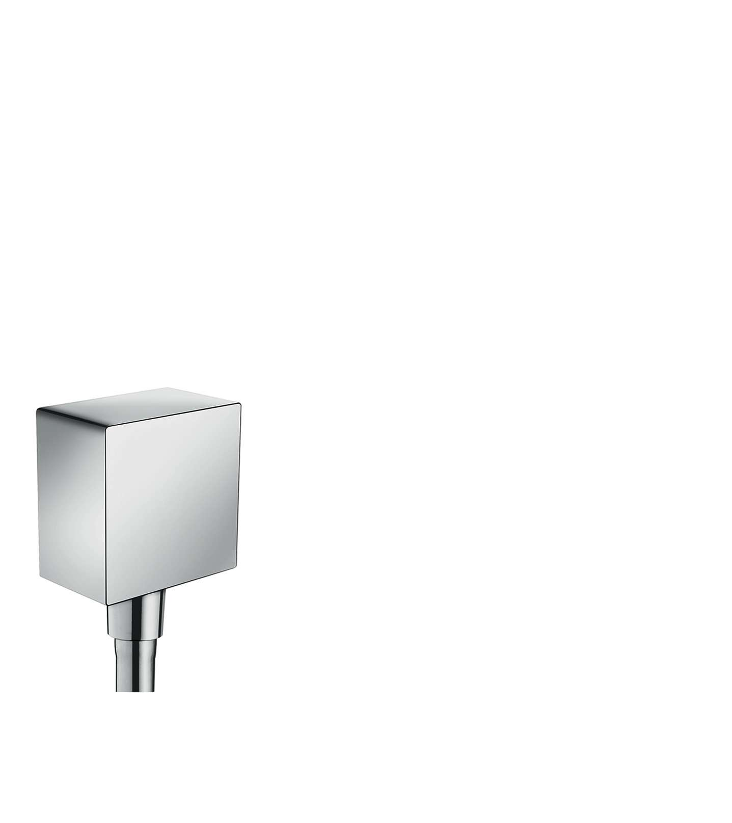Viega 649982 Hansgrohe Fixfit Square Wall Outlet With Non Return Valve And Synthetic Joint