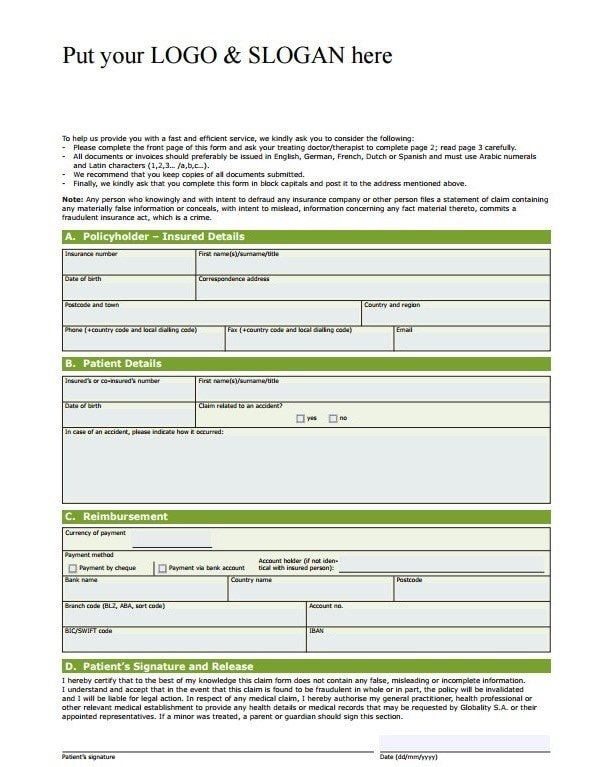 Download Fillable PDF Forms for Free - claim form in pdf