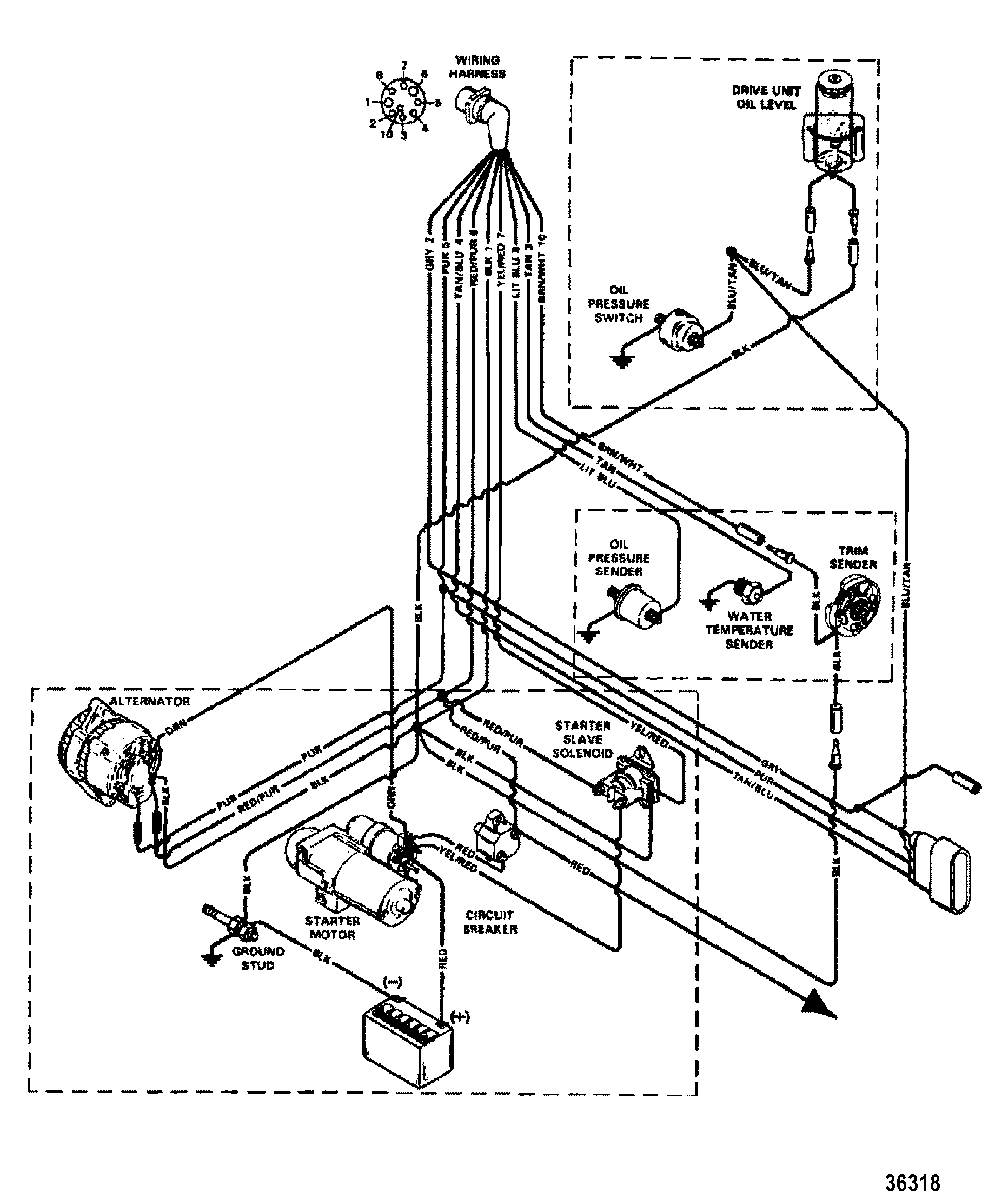 boat wiring diagram 454