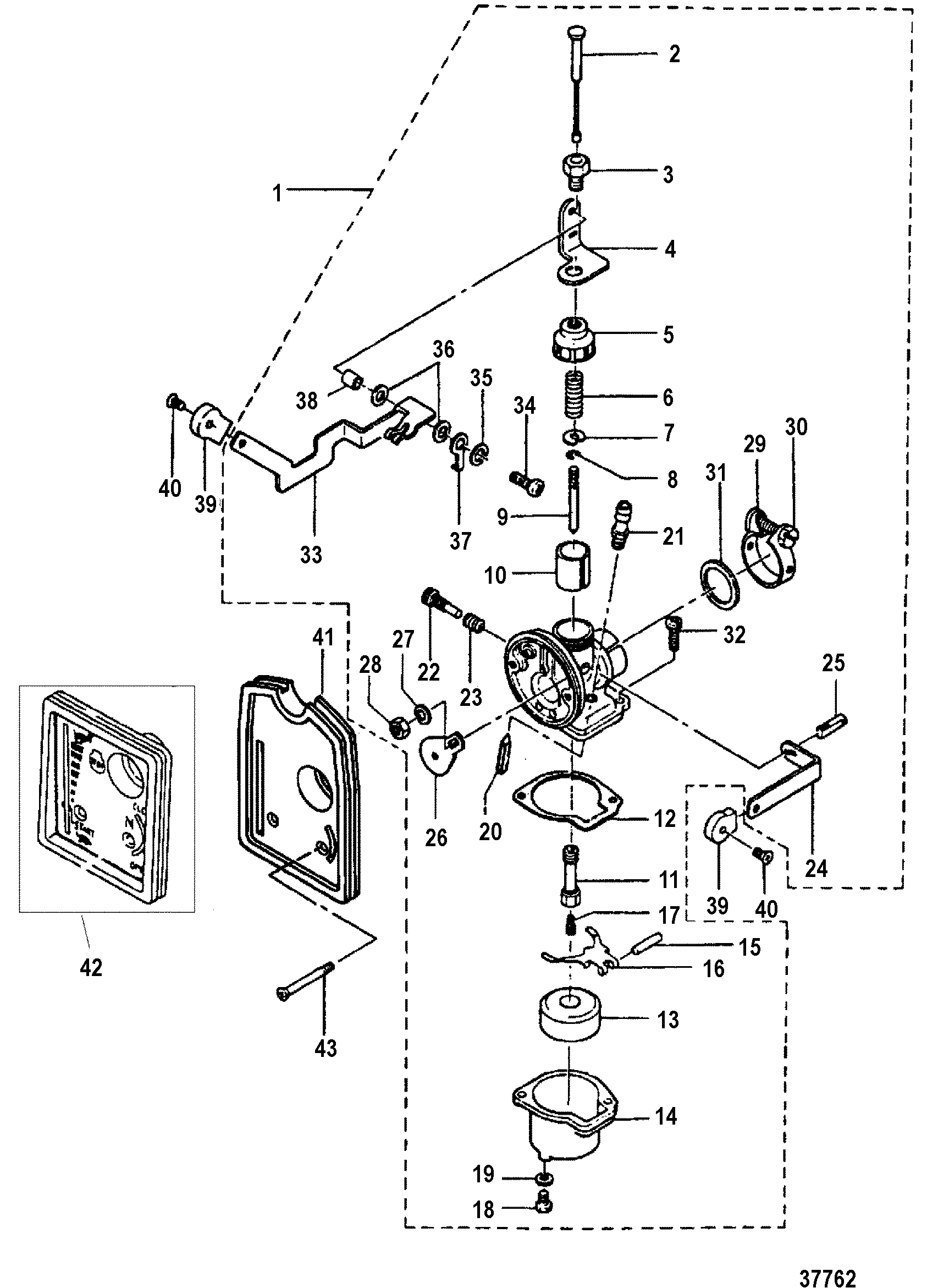 mercury outboard carburetor diagram