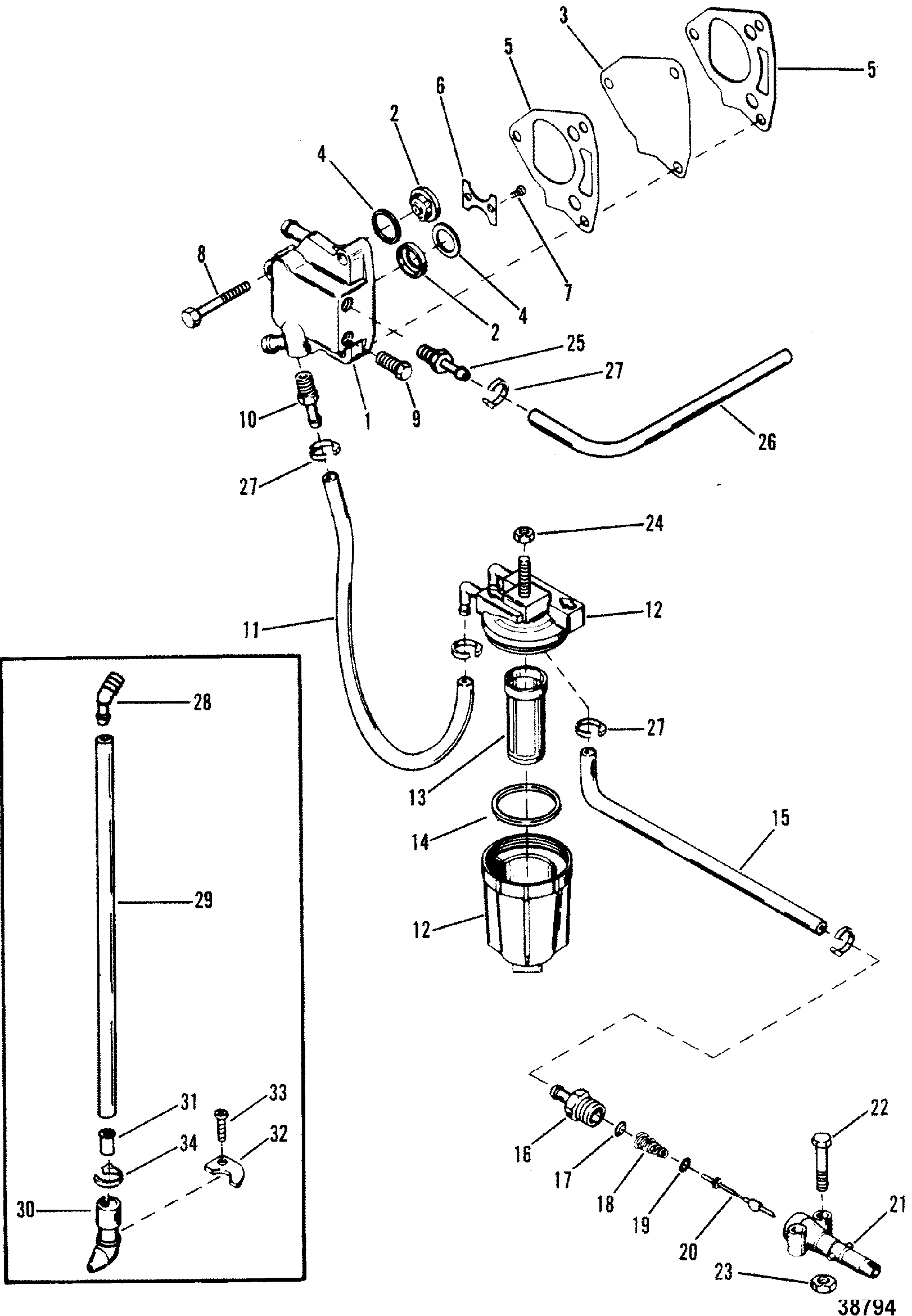 mercury outboard fuel line diagram