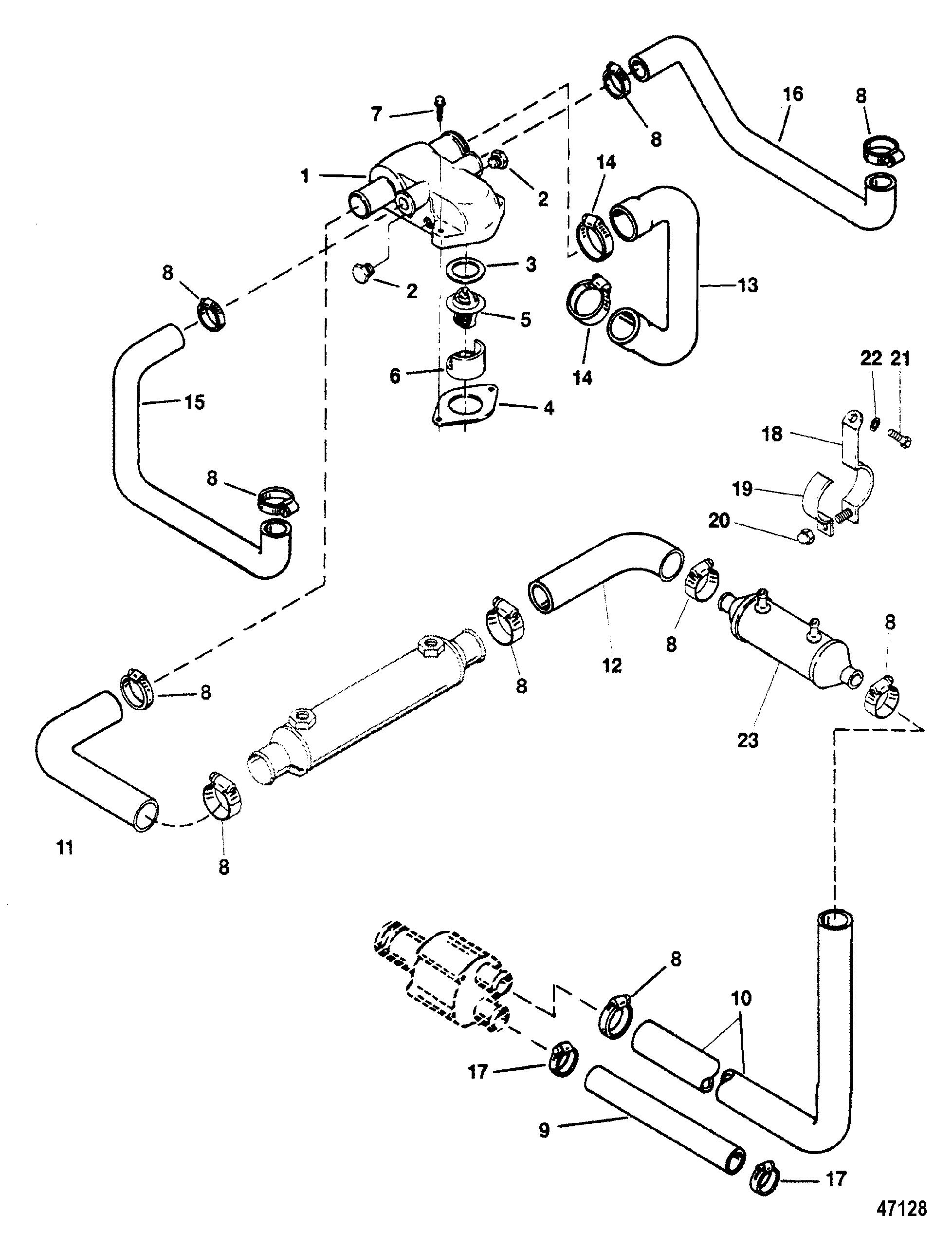 120 hp mercruiser engine diagram