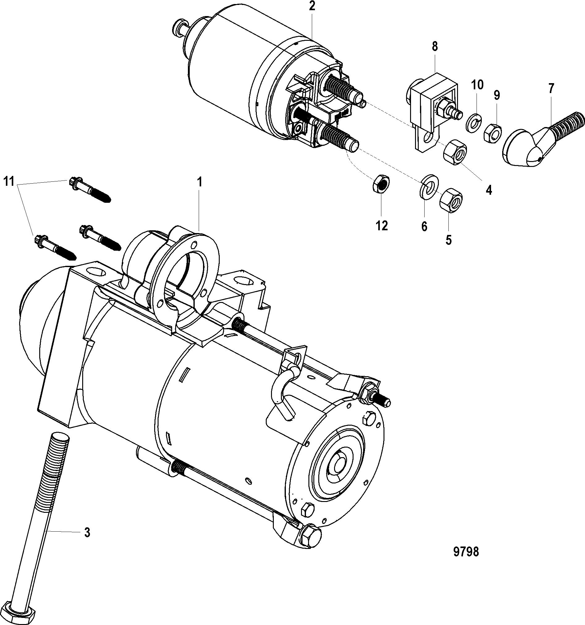 5 0l mercruiser Motordiagramm