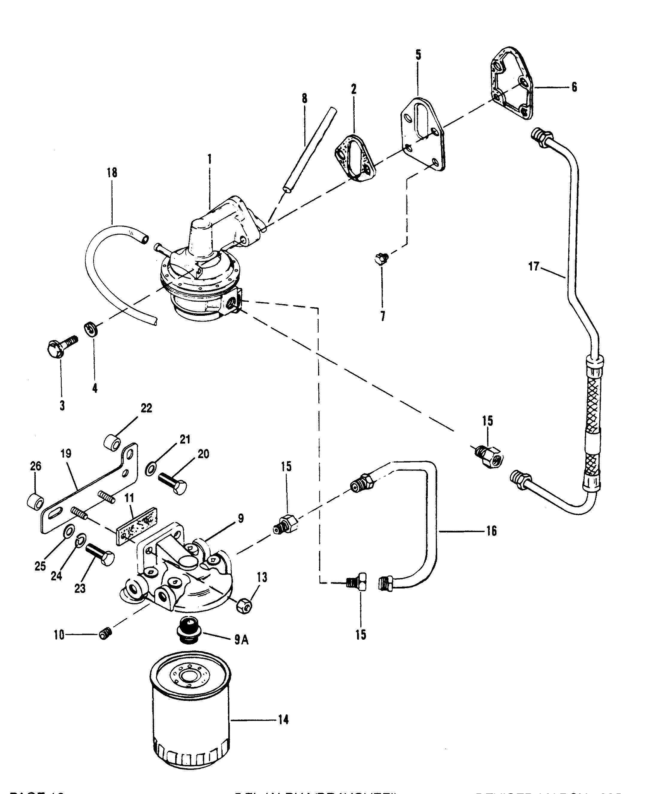 mercruiser fuel pump diagram