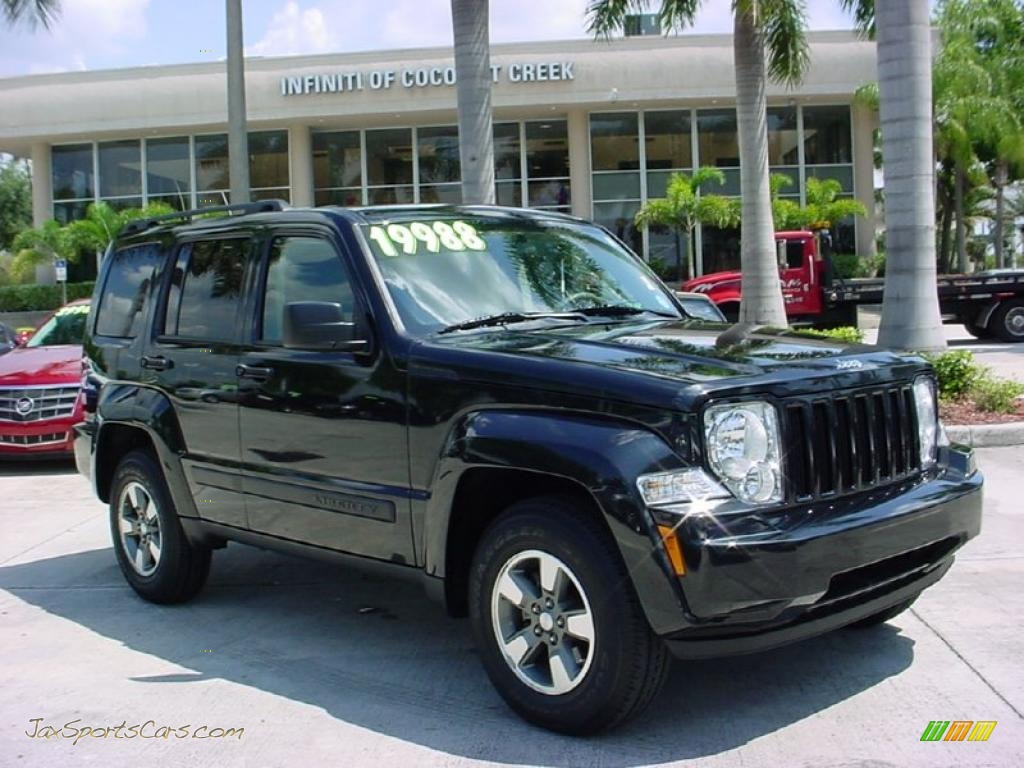 4x4 Sports Cars 2008 Jeep Liberty Sport 4x4 In Brilliant Black Crystal