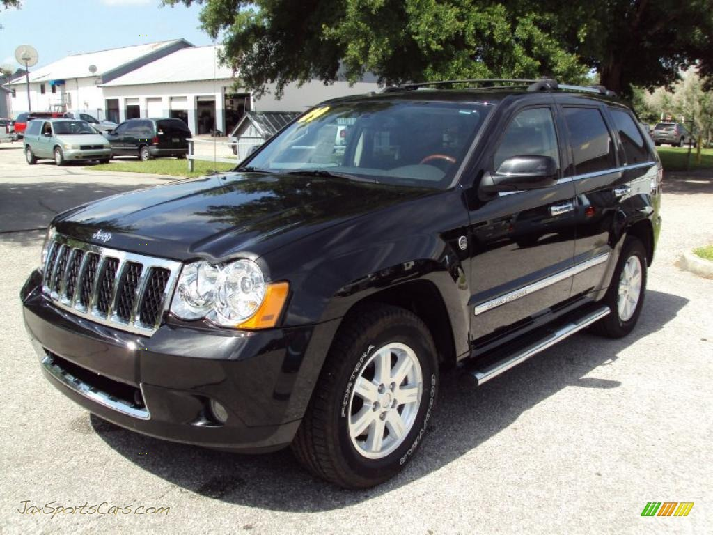 4x4 Sports Cars 2009 Jeep Grand Cherokee Overland 4x4 In Brilliant Black