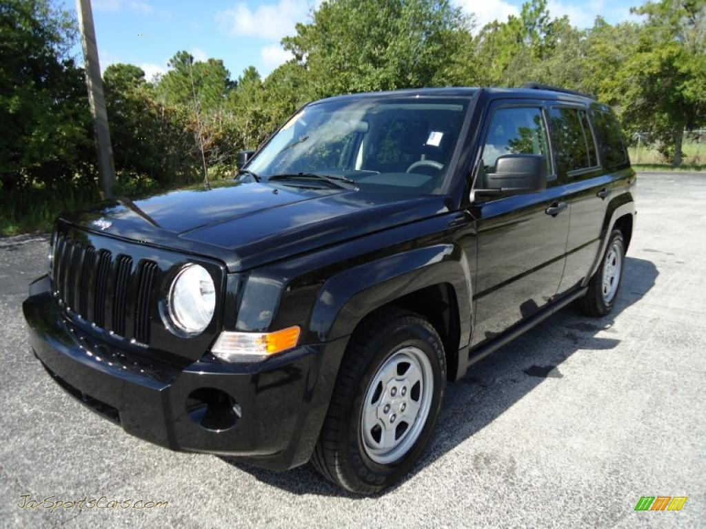 4x4 Sports Cars 2008 Jeep Patriot Sport 4x4 In Brilliant Black Crystal