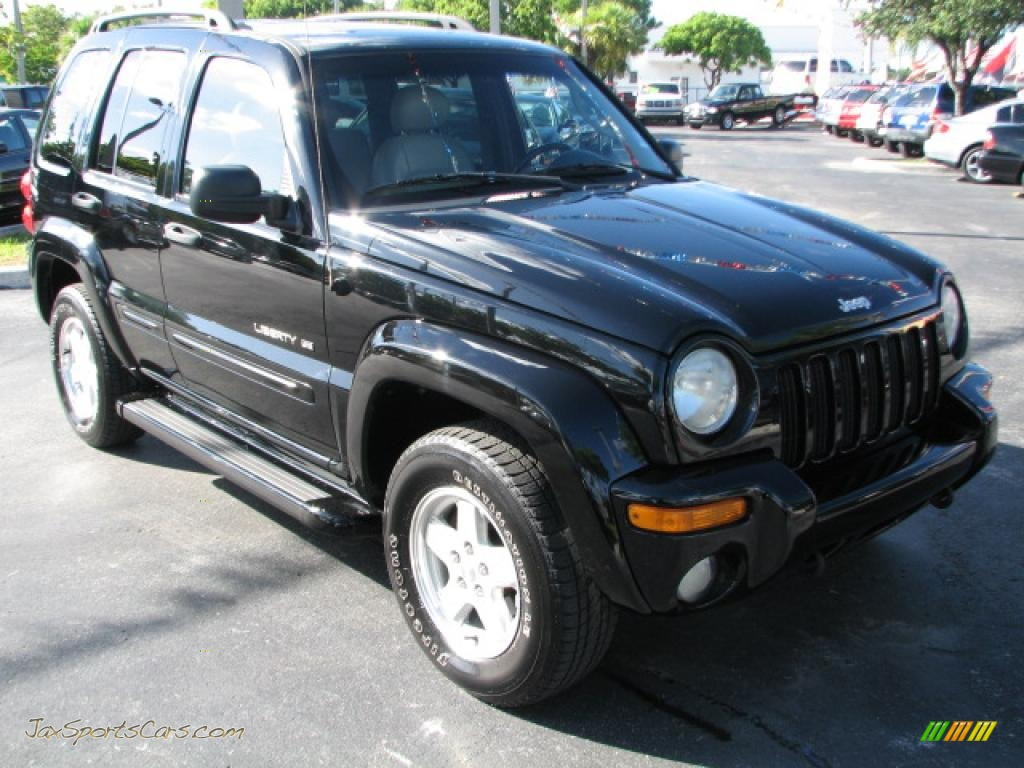 4x4 Sports Cars 2002 Jeep Liberty Limited 4x4 In Black 175553 Jax