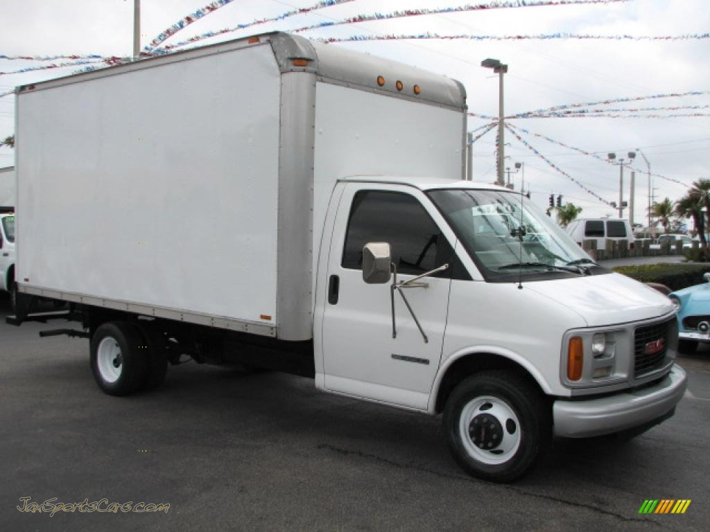 Demenagement Express 1999 Gmc Savana Cutaway 3500 Moving Truck In Summit White