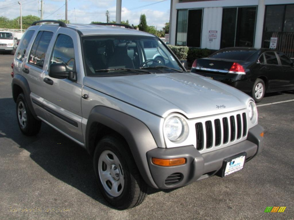 4x4 Sports Cars 2004 Jeep Liberty Sport 4x4 In Bright Silver Metallic