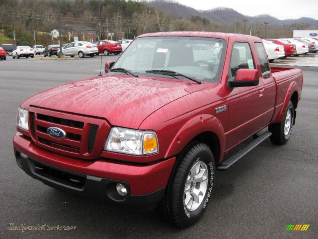 4x4 Sports Cars 2011 Ford Ranger Sport Supercab 4x4 In Redfire Metallic