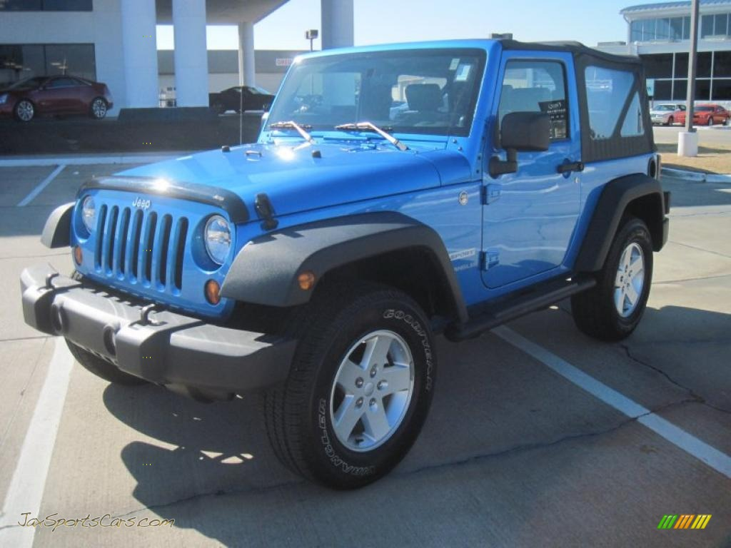 4x4 Sports Cars 2010 Jeep Wrangler Sport 4x4 In Surf Blue Pearl 105799