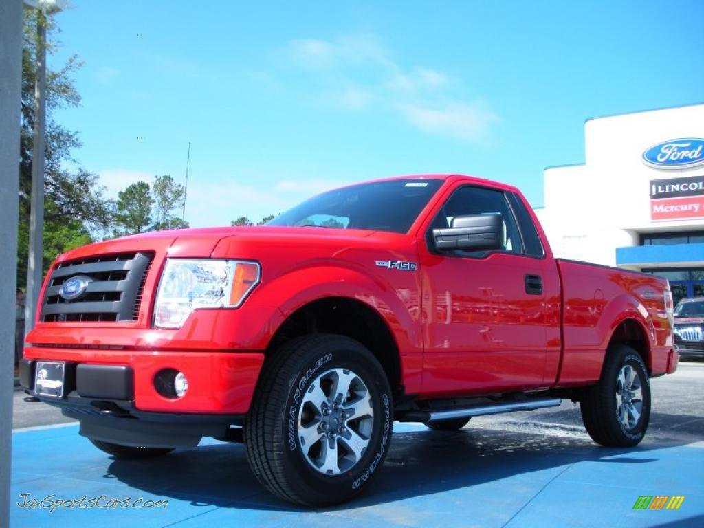 4x4 Sports Cars 2011 Ford F150 Stx Regular Cab 4x4 In Race Red D40350