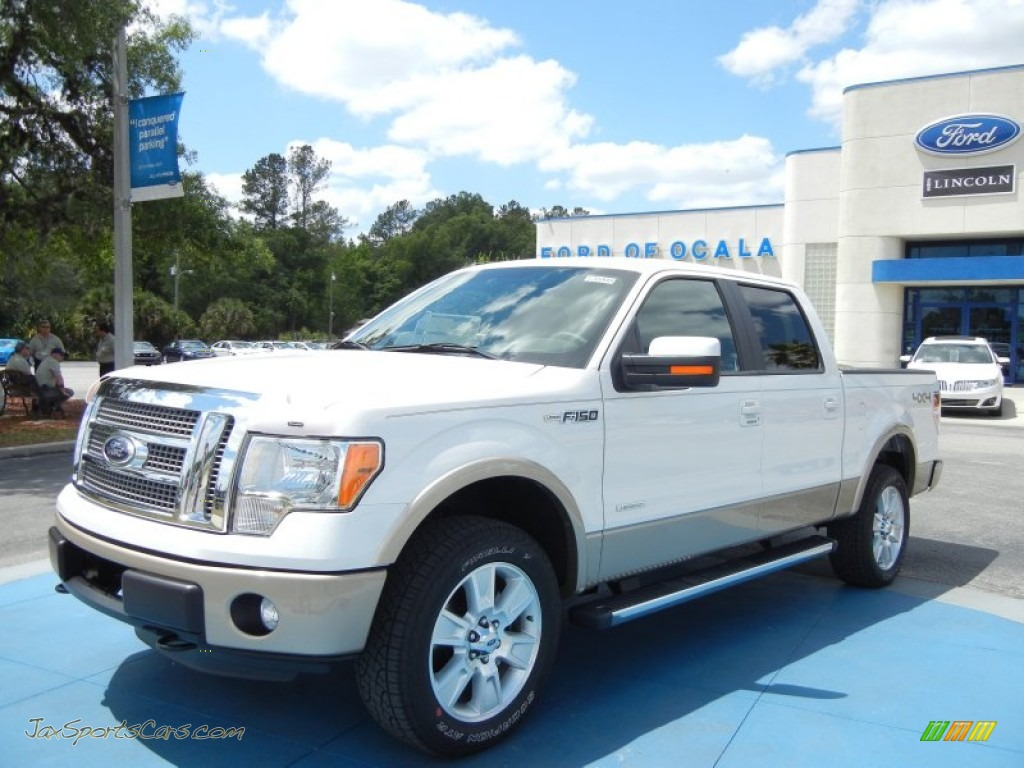4x4 Sports Cars 2012 Ford F150 Lariat Supercrew 4x4 In Oxford White