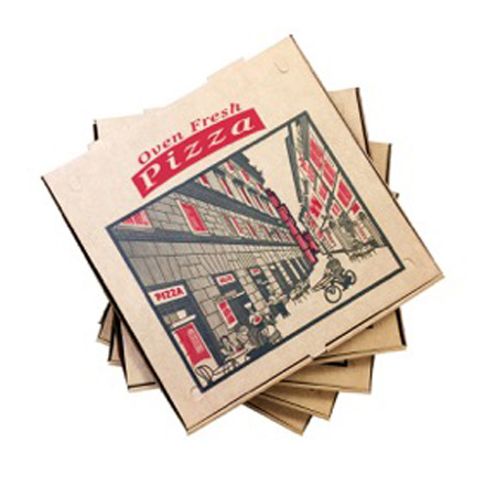 Kraft Corrugated Pizza Box - 10\