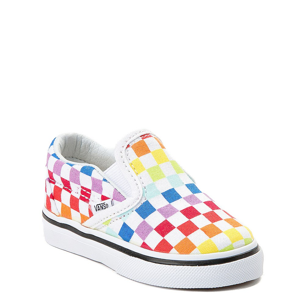 Newborn Shoes Vans Vans Slip On Rainbow Checkerboard Skate Shoe Baby Toddler Multi