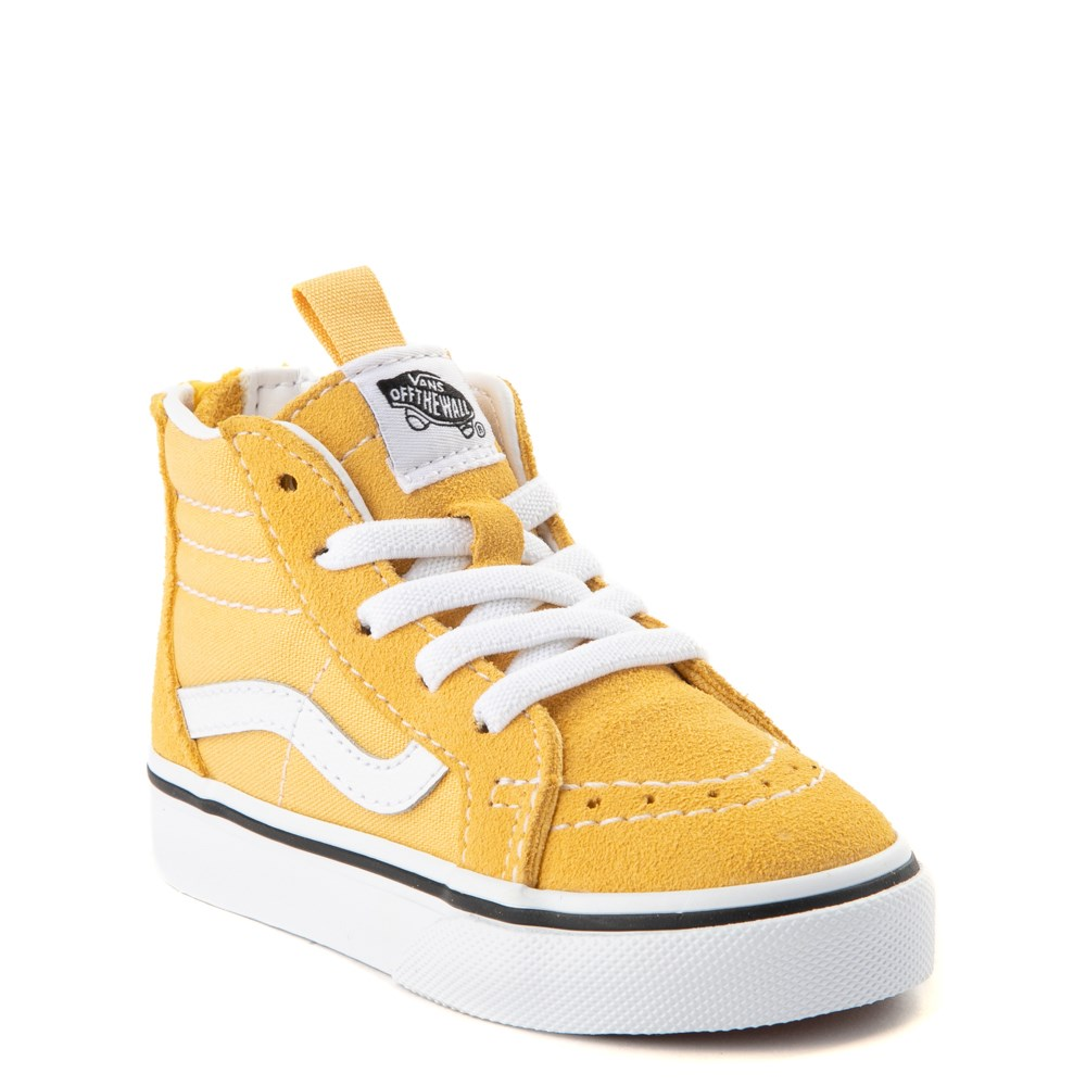 Newborn Shoes Vans Vans Sk8 Hi Zip Skate Shoe Baby Toddler Yellow