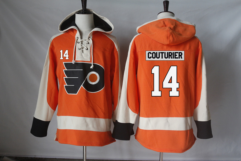 New Flyers 14 Sean Couturier Orange All Stitched Hooded