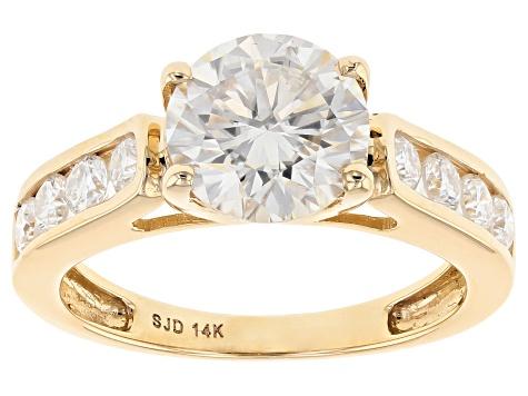 Moissanite 14k Yellow Gold Ring 238ctw DEW - MEC176 JTV