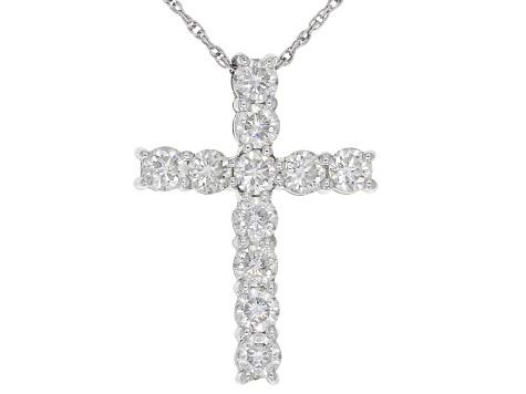 Moissanite Cross Pendant Platineve™ 143ctw DEW - MSN911 JTV