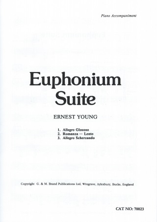 EUPHONIUM SUITE treble/bass clef Sheet Music Young at June - bass cleff sheet music