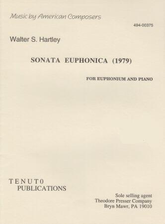 SONATA EUPHONICA (1979) treble  bass clef Sheet Music Hartley at