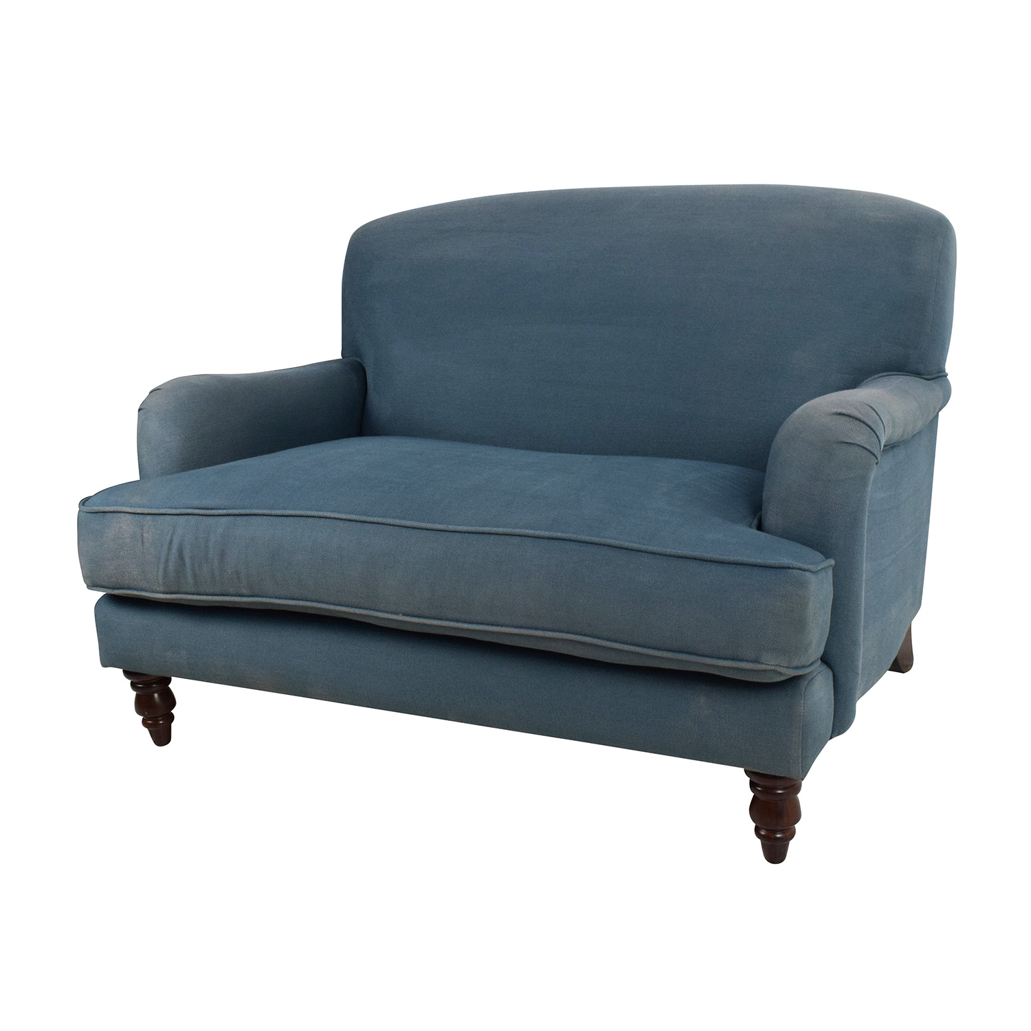 Made Sofa Shop 85 Off Custom Made Blue Loveseat Sofas