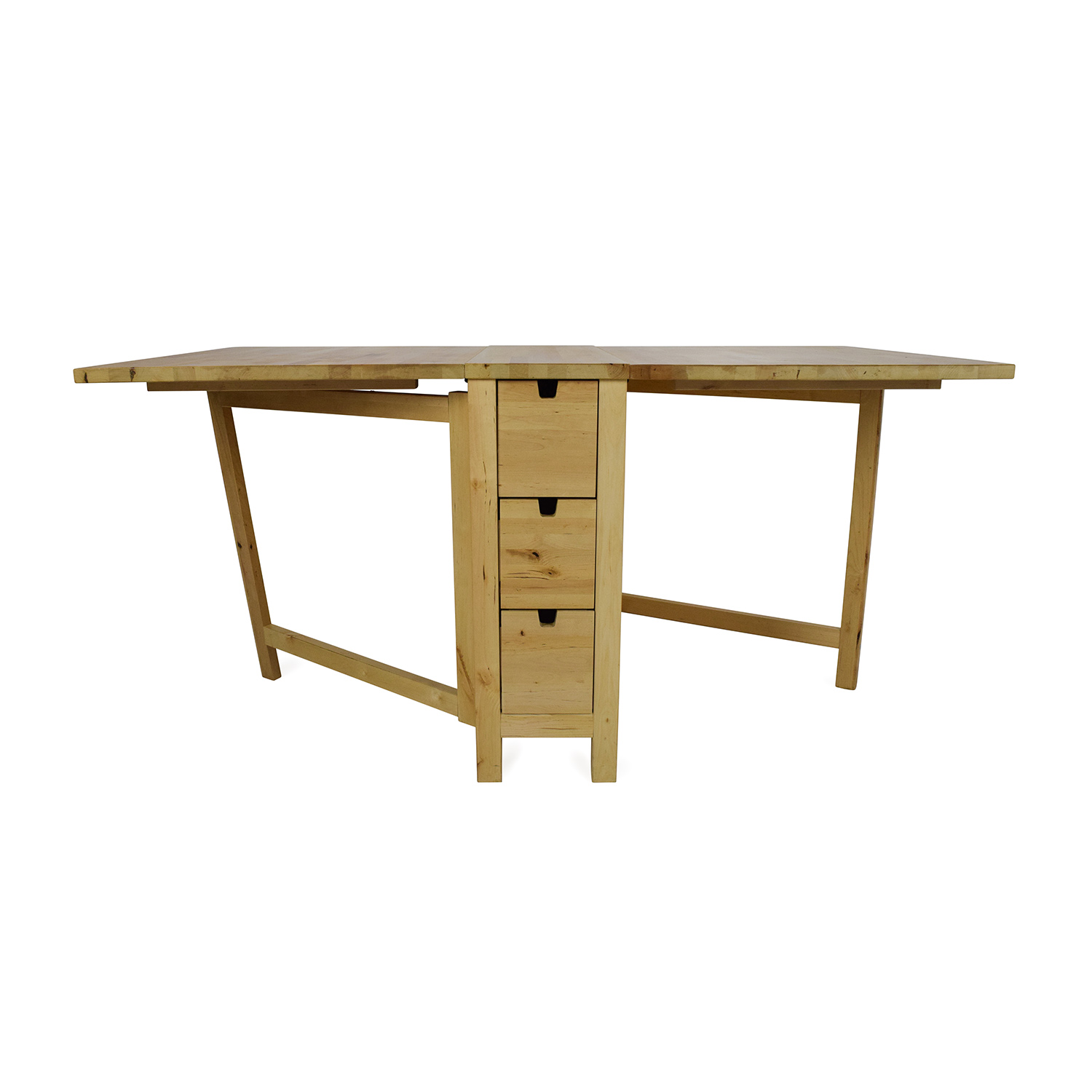 Folding Wooden Table Ikea 72 Off Ikea Ikea Foldable Kitchen Table And Desk Tables